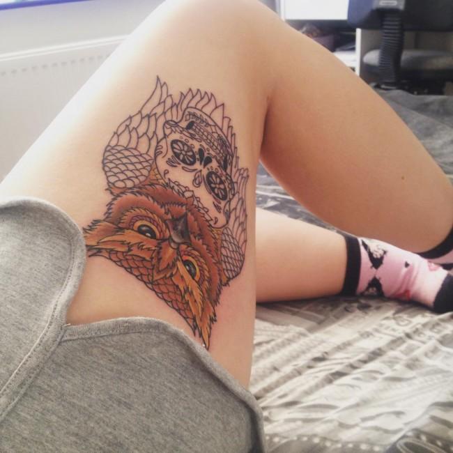 Imagenes de Tatuajes de Mujer en las Piernas 1 Tatuajes de Mujer en la Pierna