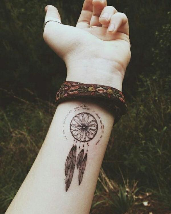 Imagenes de tatuajes de atrapasuenos 109 Tatuajes de Atrapasueños
