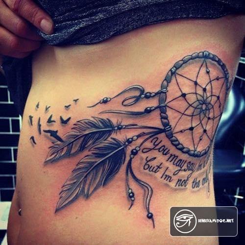 Tatuajes de atrapasueños grandes