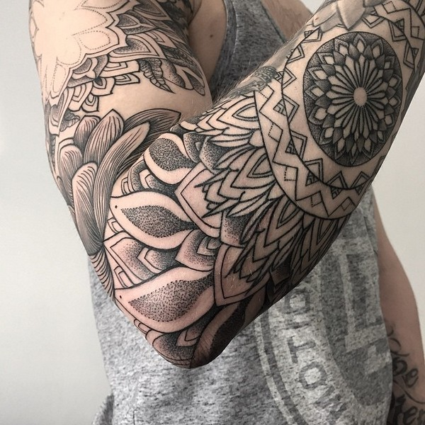 Tatuaje manga completa mandalas Imagenes de Tatuajes de Angeles
