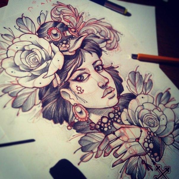 Increíbles Plantillas de Tatuajes en Papel - Galería 1