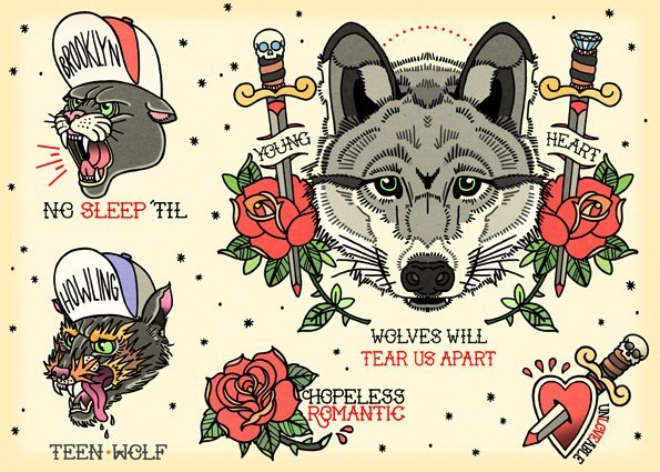 Diseños de Tatuajes en Papel Galería 2