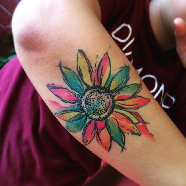 Los Mejores Tatuajes de Girasoles y su Significados