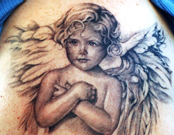 idea de tatuaje de angel bebe Imagenes de Tatuajes de Angeles