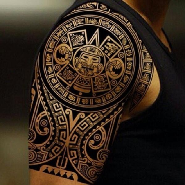 Diseño Del Rainbow Warrior Iii: Los Diseños Mas Impresionantes De Tatuajes Aztecas