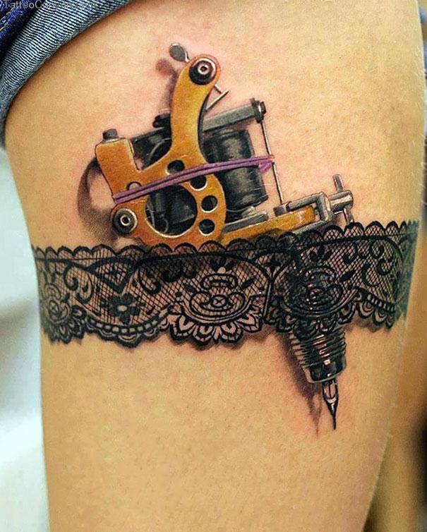 tattoo en la pierna 3d Tatuajes de Mujer en la Pierna