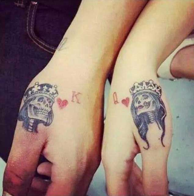 tatuaje calaveras con coronas Imágenes de Tatuajes de Coronas