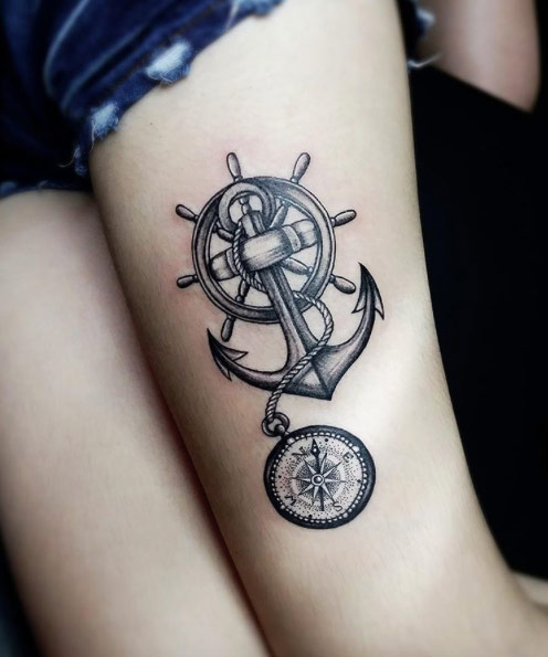 Diseños De Tatuajes De Brújulas Y Sus Significados Tatuajes Para