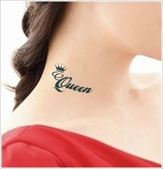 tatuaje de corona en cuello Imágenes de Tatuajes de Coronas