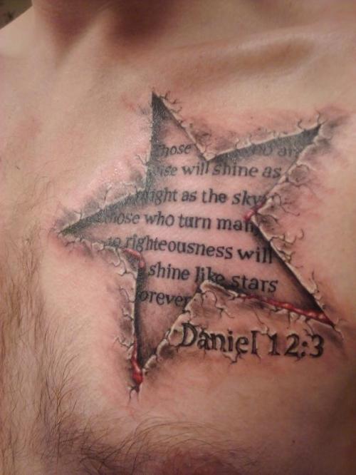 tatuaje de estrellas en 3d Imagenes de Tatuajes 3D