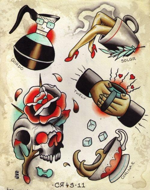 tatuaje de la vieja escuela Imagenes de Tatuajes de la Vieja Escuela