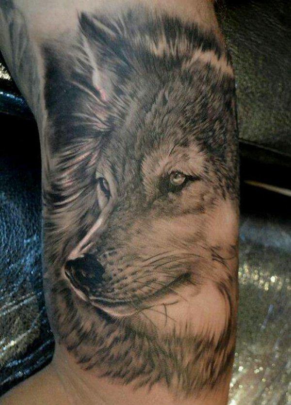tatuaje de lobo media manga Tatuajes de Manga Completa