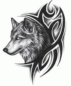 tatuaje de lobo tribal Imagenes de Tatuajes Tribales