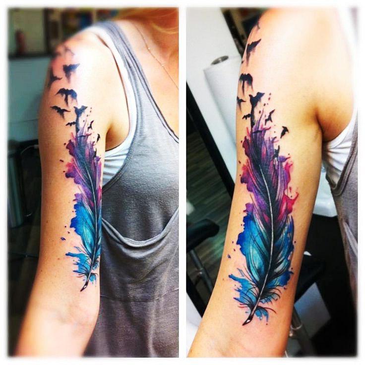 Imagenes de Tatuajes de Plumas y su Significado
