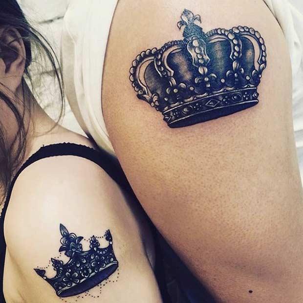 tatuajes de coronas en hombros Imágenes de Tatuajes de Coronas
