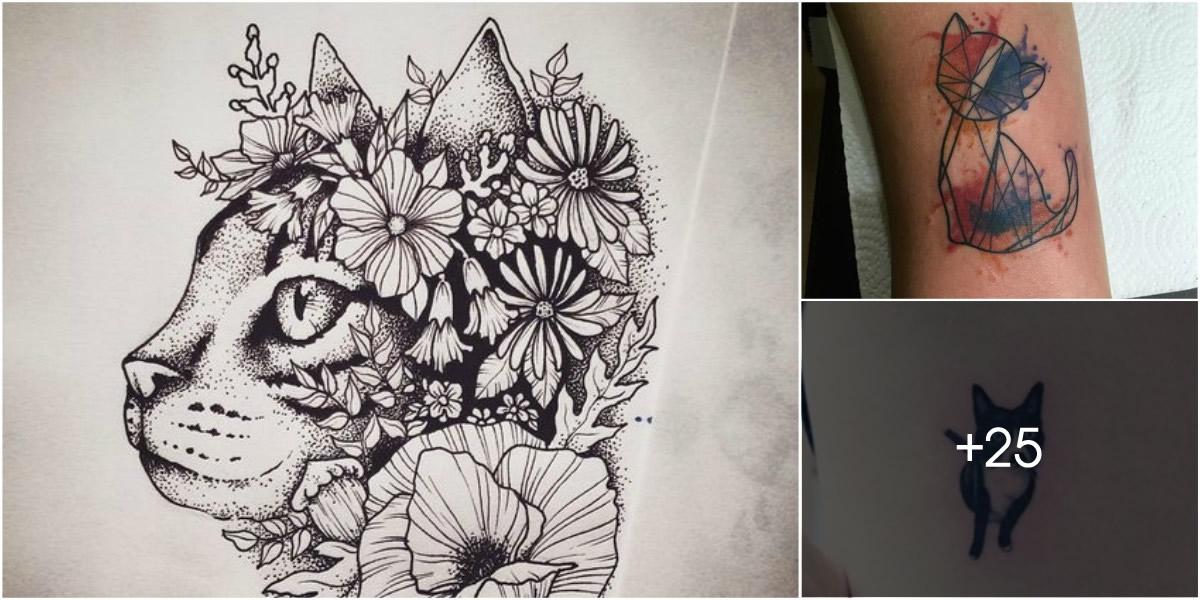 Los Mejores Diseños De Tatuajes De Gatos Tatuajes Para Mujeres Y