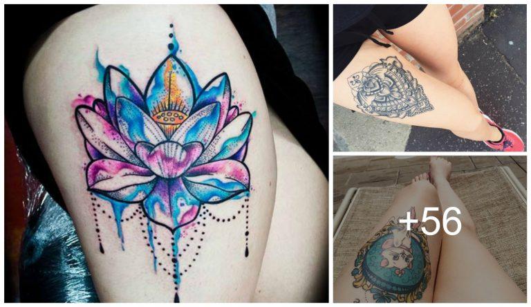 Tatuajes de Mujer en la Pierna