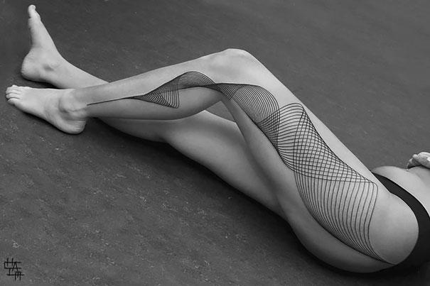 tatueje 3d en piernas Tatuajes de Mujer en la Pierna