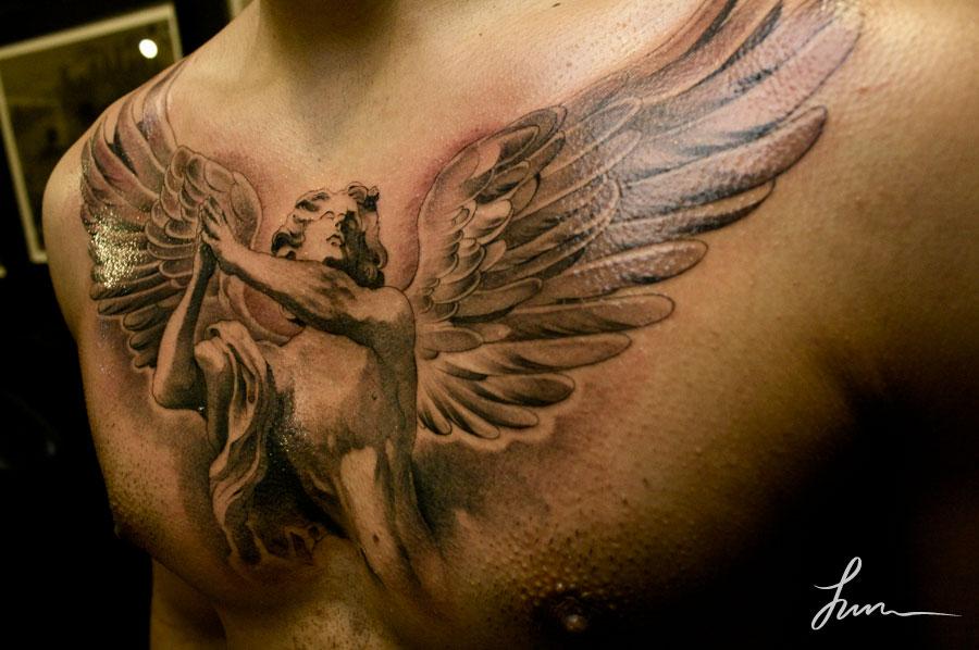 tautaje de angeles en el pecho Imagenes de Tatuajes de Angeles