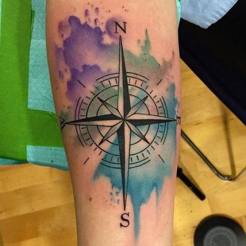 Imagenes de Tatuaje de Brujula 37 Tatuajes de Brújulas