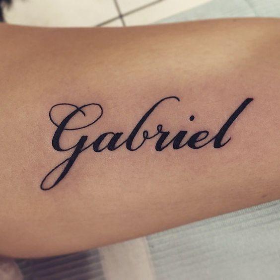 tatto con nombre Tatuajes de Nombres