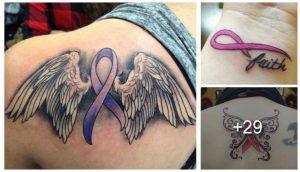 Conmovedores Tatuajes de la Cinta del Cáncer de Mama