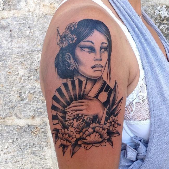 Los Mejores Tatuajes de Geisha y sus Significados