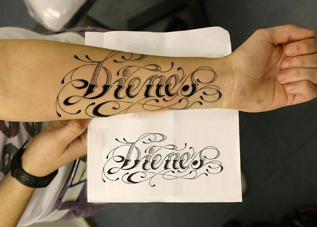 tatuaje de nombre 2 Tatuajes de Nombres