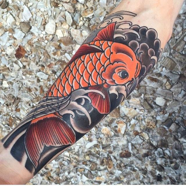 Diseños de Tatuajes de Peces Koi y sus Significados