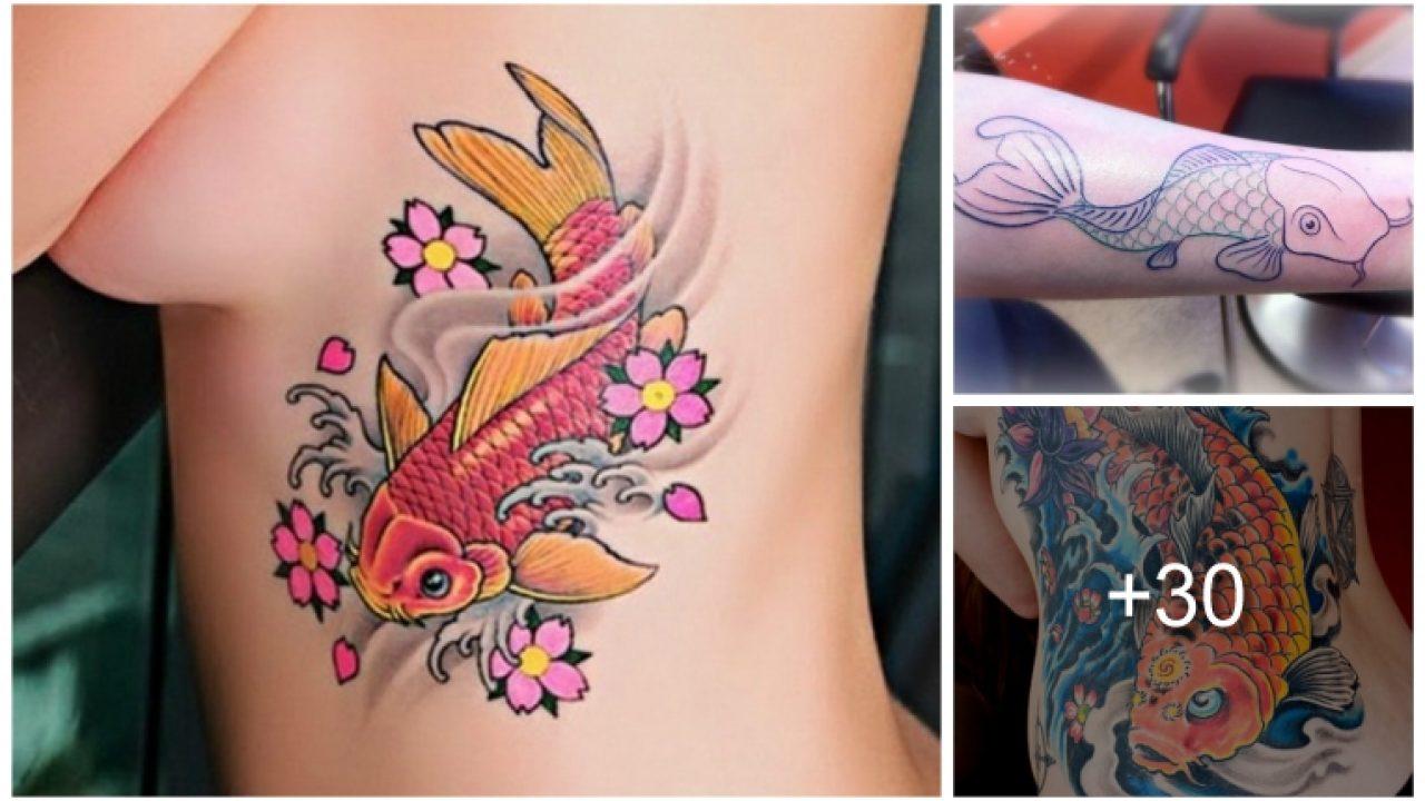 Diseños De Tatuajes De Peces Koi Y Sus Significados Tatuajes Para Mujeres Y Hombres
