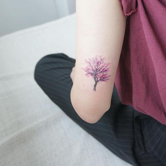 28 Increíbles Tatuajes De Cerezos Y Sus Significados Tatuajes Para
