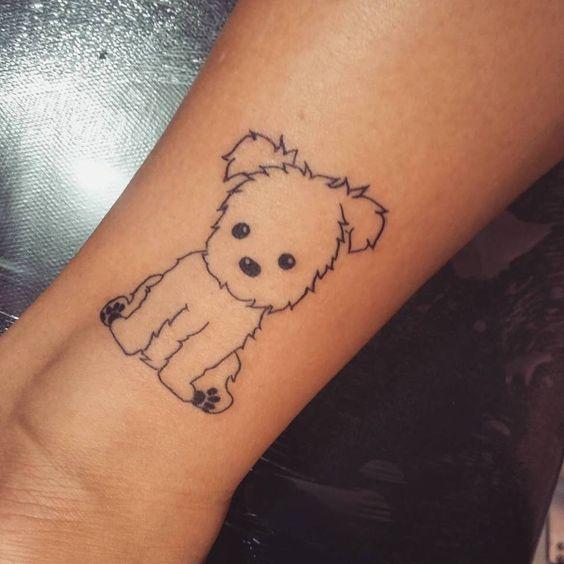 tatuajes córneo estilo perrito
