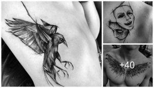 30 Increibles Tatuajes en Forma de Boceto