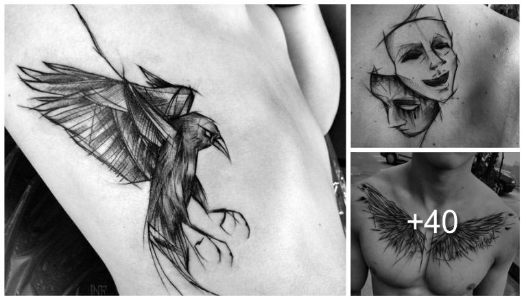Tatuajes en Forma de Boceto