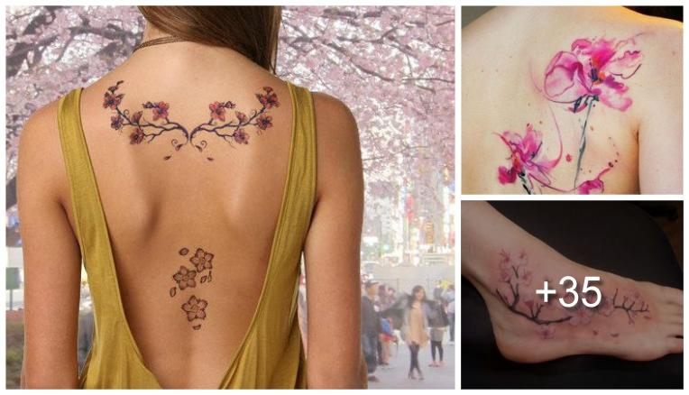 28 Increíbles Tatuajes de Cerezos y sus Significados