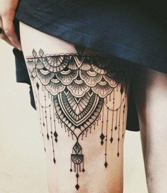 tatuajes de mujeres en las piernas Tatuajes de Mujer en la Pierna