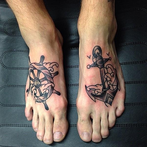 Increibles tatuajes en los pies para mujeres y hombres for Mens foot tattoos