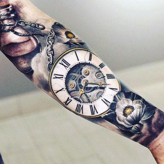 Tatuajes de Relojes de Bolsillo - Los Mejores Diseños