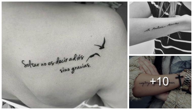 Inspiradores Tatuajes con Frases