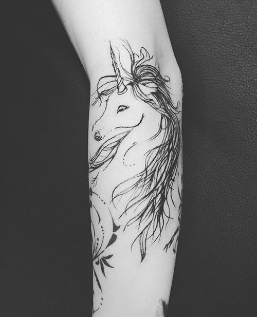 Animal trends 2017 - Hermosos Tatuajes De Unicornios Para Mujeres Tatuajes