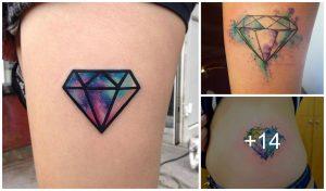 14 Increibles Diseños de Tatuajes de Diamantes