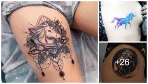 Hermosos Tatuajes de Unicornios para Mujeres