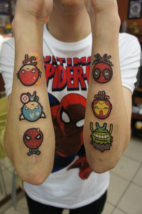 Tatuajes de Marvel 6 Tatuajes de Marvel y sus Super Héroes