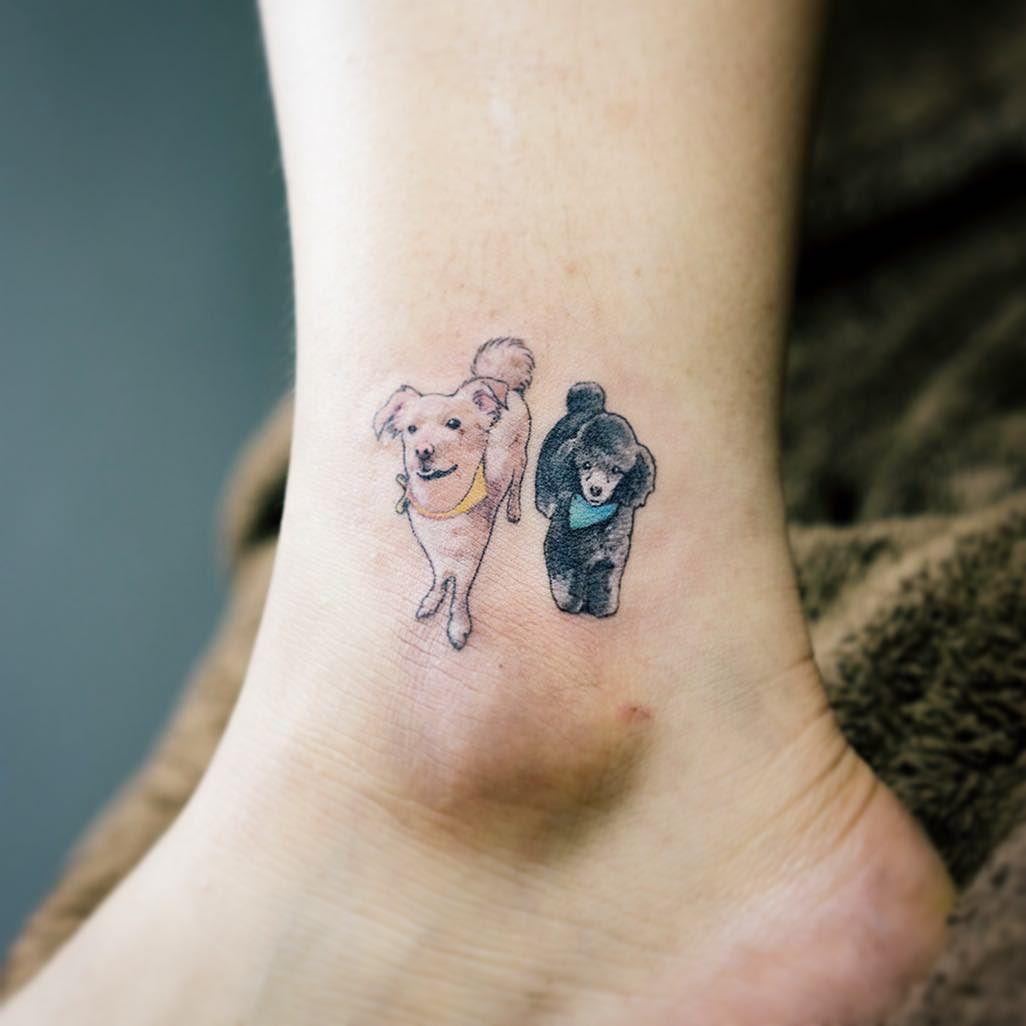Adorables Tatuajes de Perritos