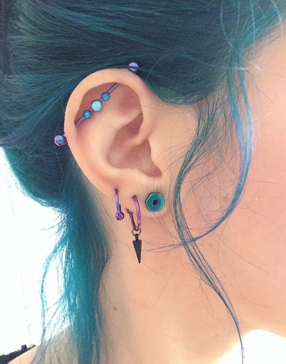perforaciones en las orejas 10 Ideas para Perforaciones en la Oreja