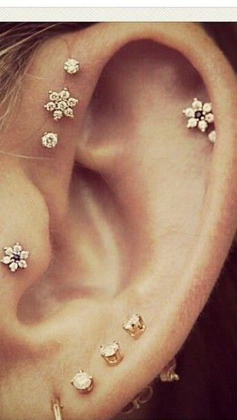 perforaciones en las orejas 15 Ideas para Perforaciones en la Oreja