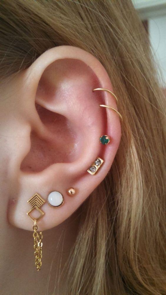 perforaciones en las orejas 16 Ideas para Perforaciones en la Oreja