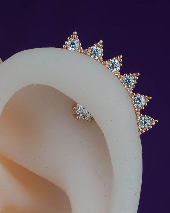 perforaciones en las orejas 19 Ideas para Perforaciones en la Oreja