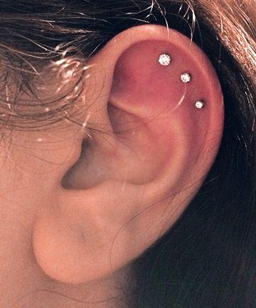 perforaciones en las orejas 2 Ideas para Perforaciones en la Oreja