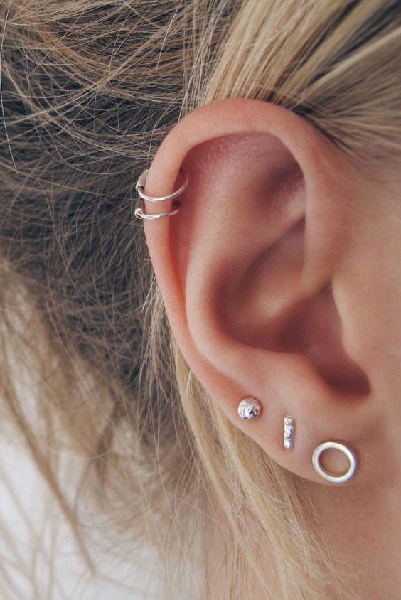 perforaciones en las orejas 27 Ideas para Perforaciones en la Oreja